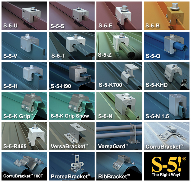 S-5! Clamps and Brackets