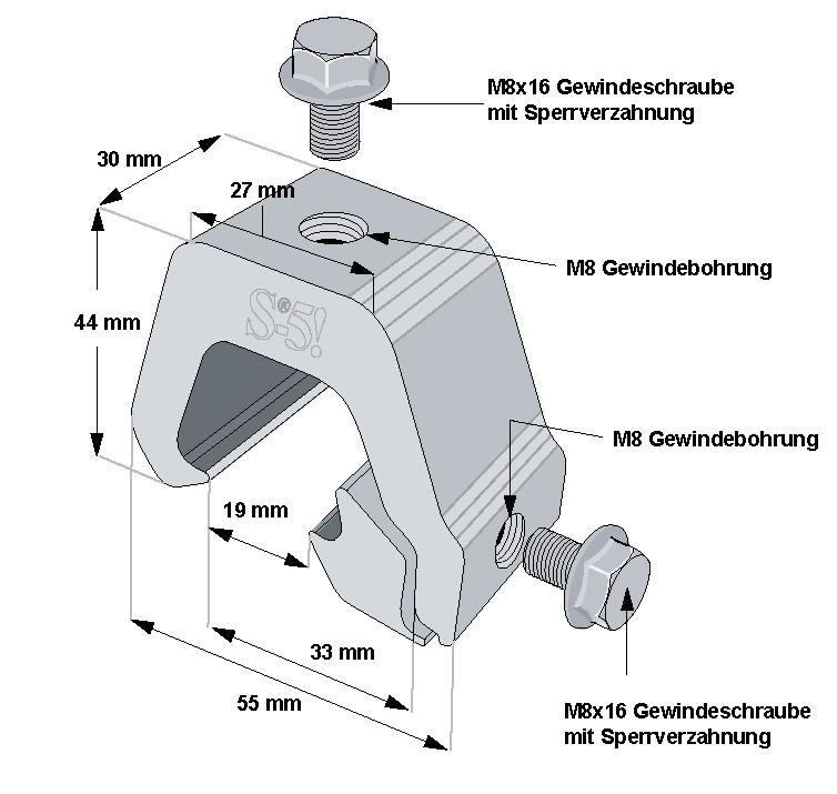 S-5-K-Grip-Mini Klemme