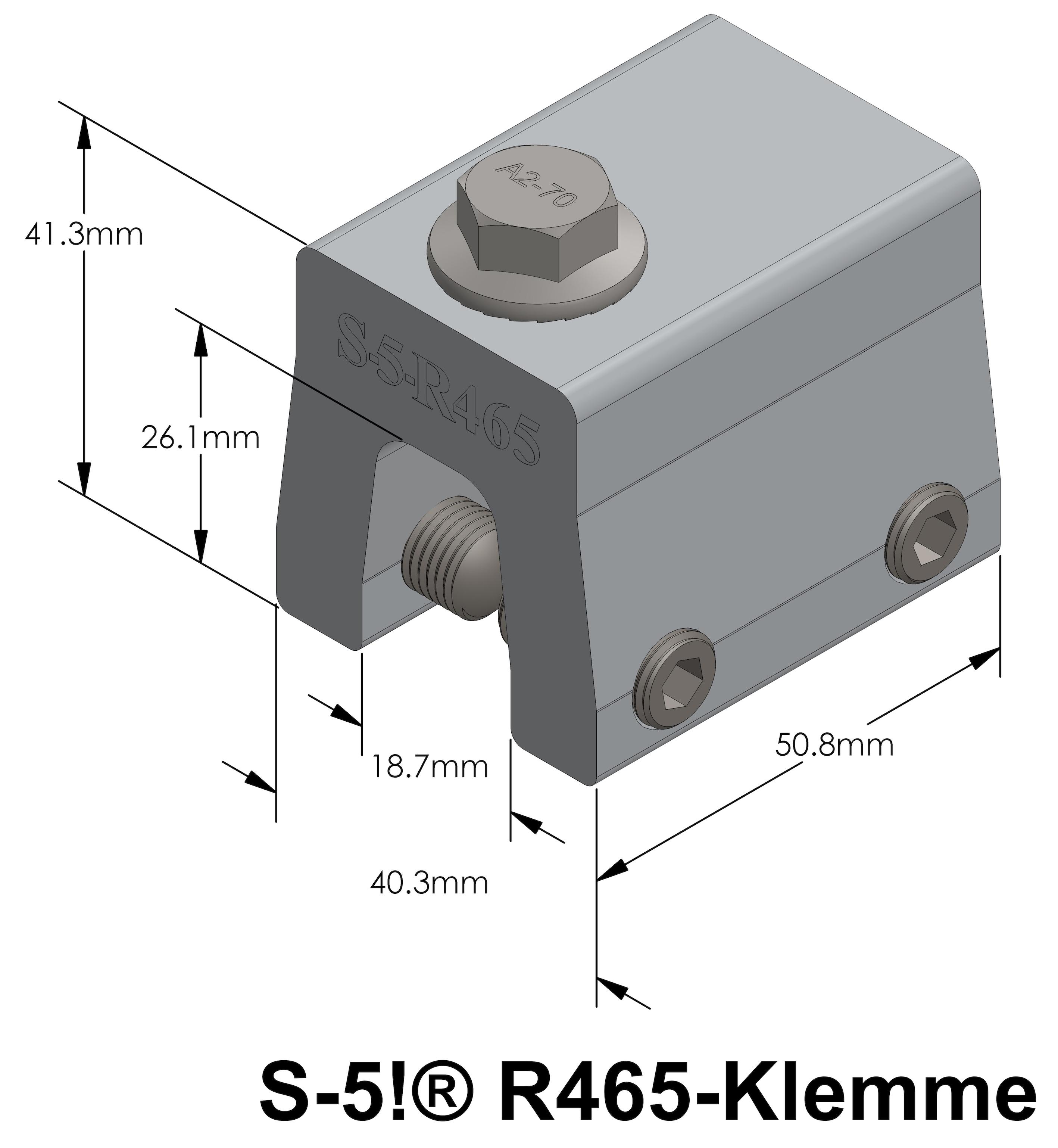Detail R465-Klemme
