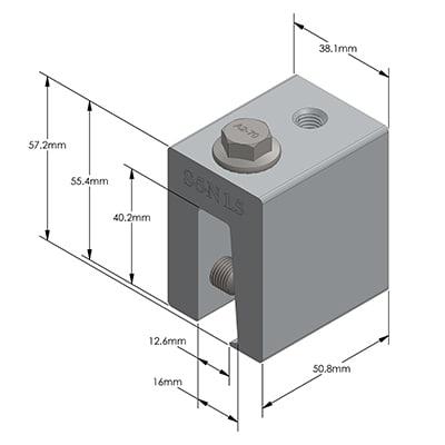 Maße N1.5-Klemme
